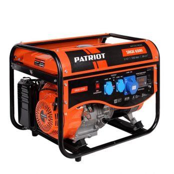 Купить Бензиновый генератор PATRIOT SRGE 6500 цена 19500 руб Москва