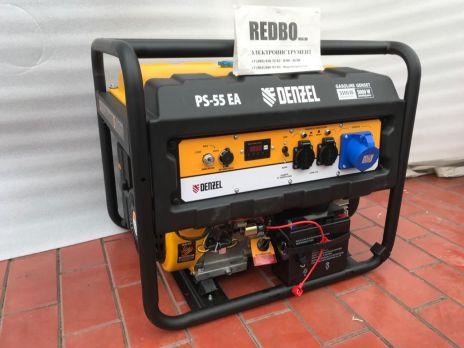 Бензиновый генератор DENZEL PS 55 EA